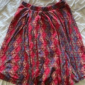 Lularoe knee length skirt with POCKETS!